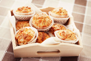 muffins fromage jambon