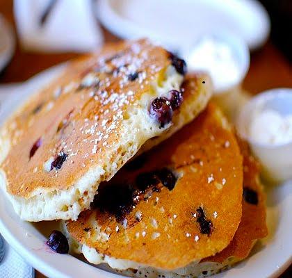Pancake aux myrtilles