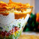 Salade verte aux nachos pour 4 personnes