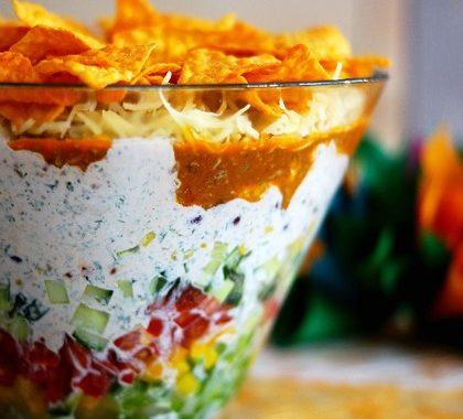 Salade verte aux nachos